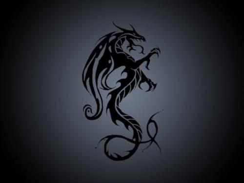 Красивые обои чёрный дракон скачать