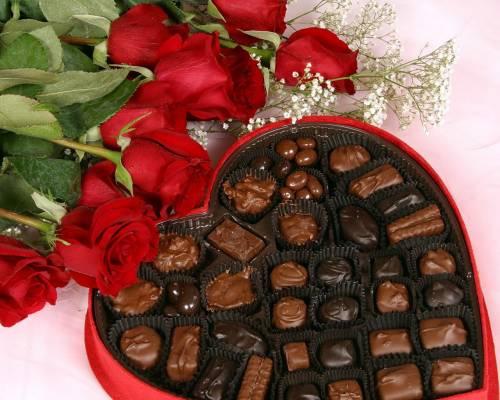 картинки цветы и конфеты: